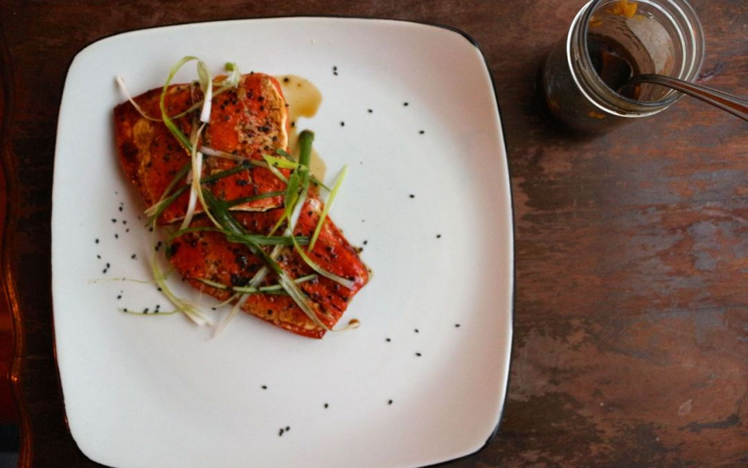 "Bourbon Glazed ""Candied"" Salmon"