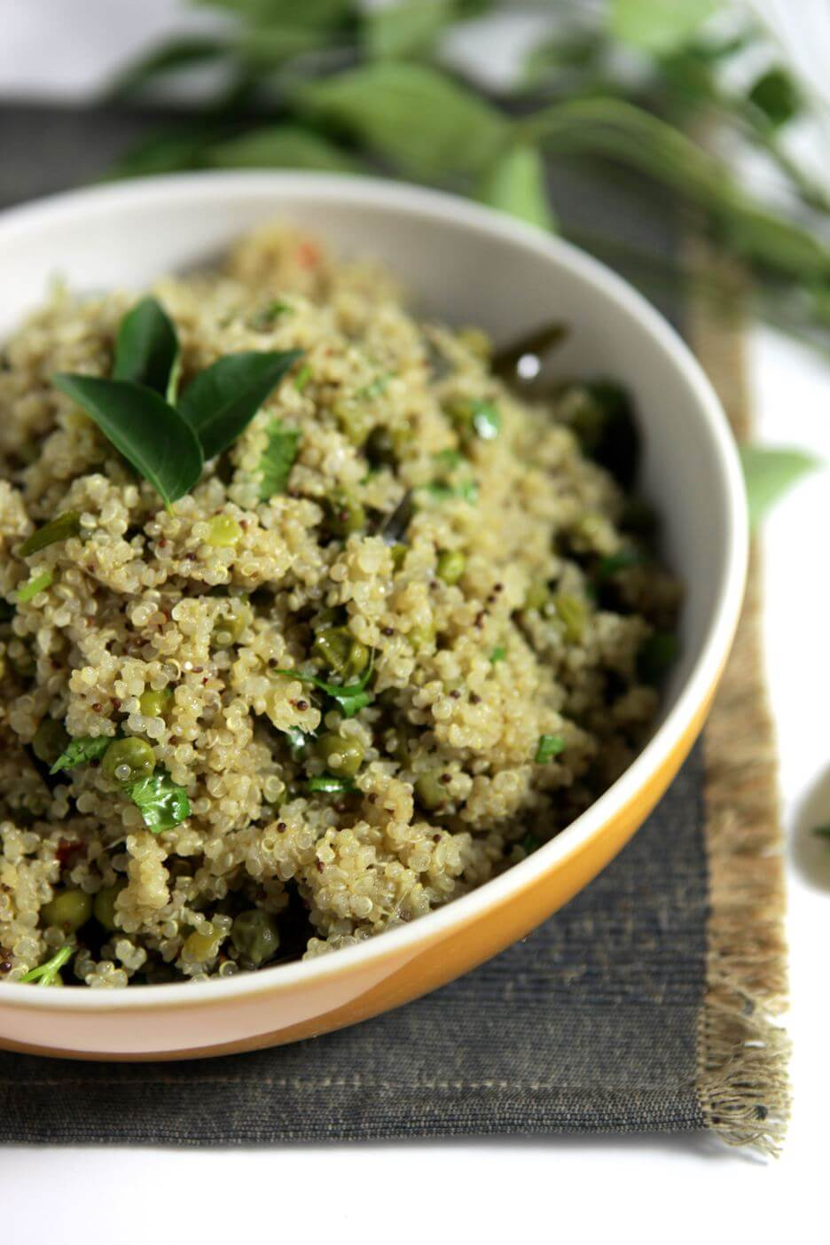 Indian Style Quinoa and Peas
