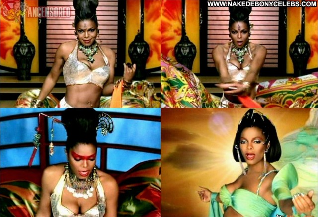 Janet Jackson Call On Me Brunette Celebrity Ebony Singer Medium Tits
