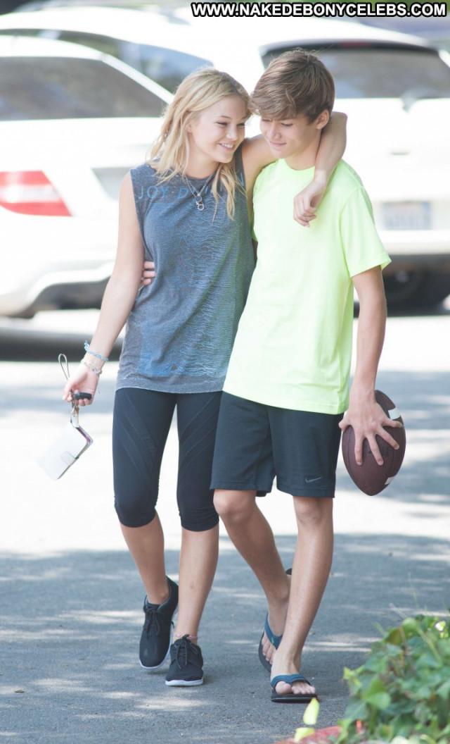 Olivia Holt Posing Hot Park Babe Football Celebrity Paparazzi