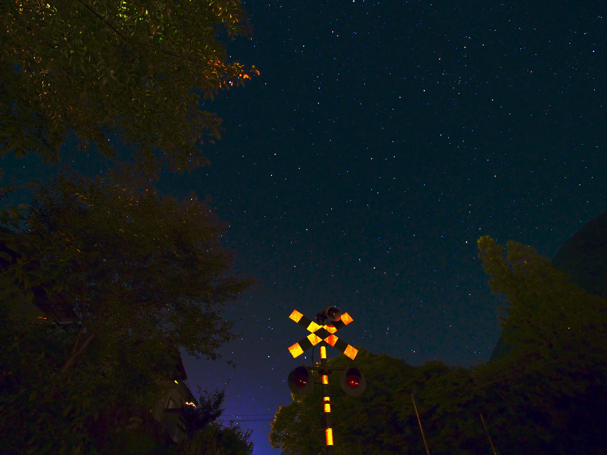 Stars and a signal of level crossing