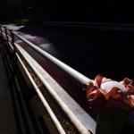 Traffic barriers and a scrunchie a.k.a. chouchou