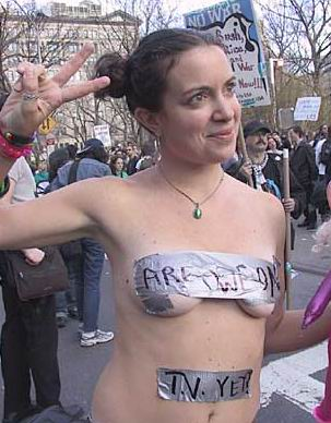 duct tape on breasts