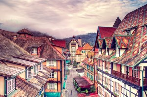 French-themed village Colmar Tropicale, Bukit Tinggi, Malaysia
