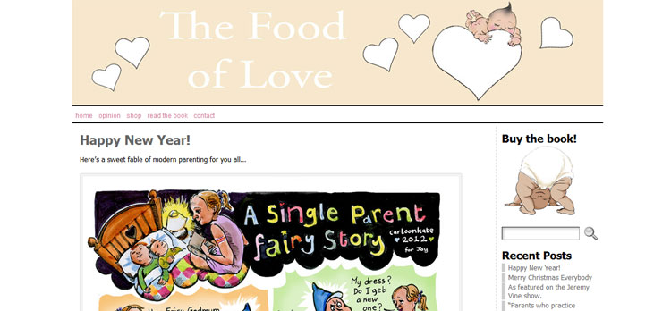 The Food of Love - Wordpress Layout by Naked Website