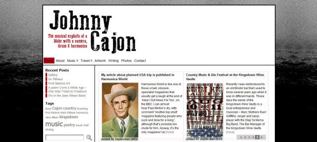 Johnny Cajon website by Naked Website