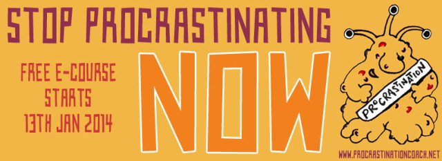 Procrastination e-course banner by Naked Website