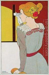 Postcard-Of-A-Woman-With-Binoculars