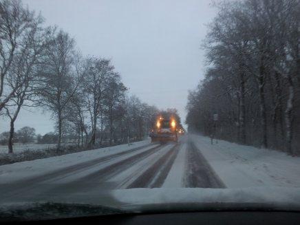 B210 Aurich Middels bei Schnee