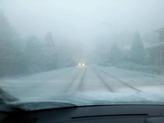 Schoolpad in Aurich im Winter