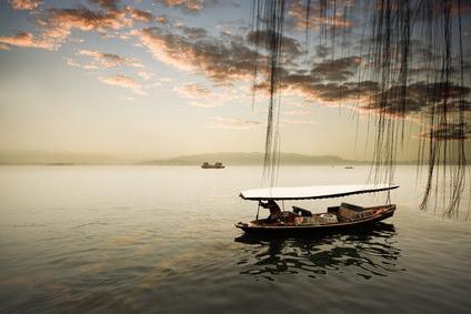 Sonnenaufgang bei Hangzhou,China
