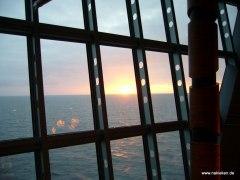 Sonnenuntergang im Aida Atrium