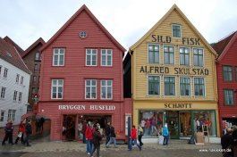 Bergen Altstadt aus Holz