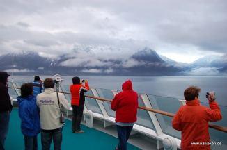 Deck der AIDA im Eidfjord