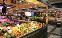 Obst und Gemüse im Mercat de l'Olivar
