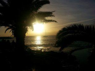 Abendsonne über dem Meer