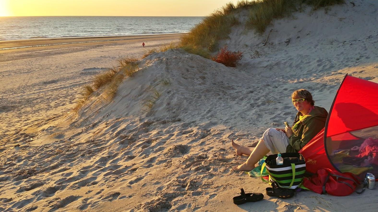 Am Strand von Hviede Sande