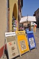 Zeitungen am Kiosk