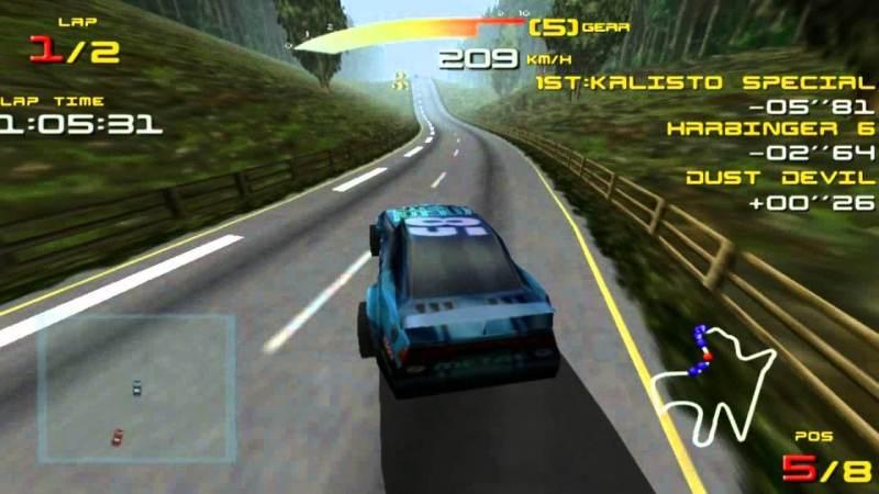Ultimate Race Pro auf dem Pentium 133 mit 3DFX