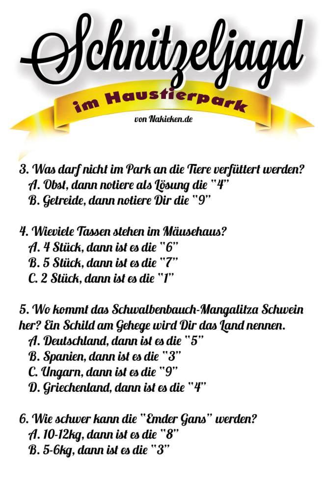 Schnitzeljagd Rätsel Seite 2