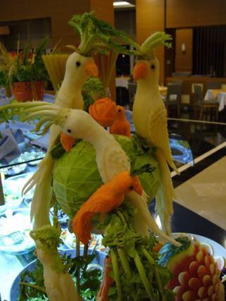 Kunst aus Obst und Gemüse