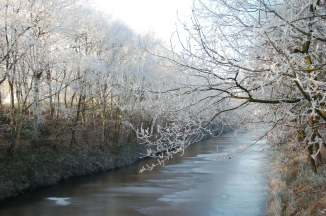 Ems Jade Kanal im Winter