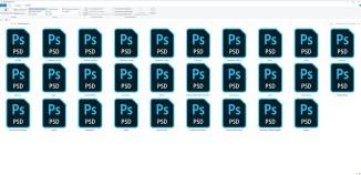 Vorher: Keine Vorschaubilder werden unter Windows