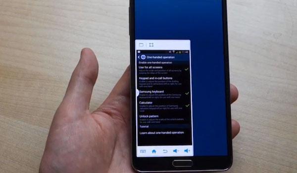 Galaxy-S5-Управление одной рукой