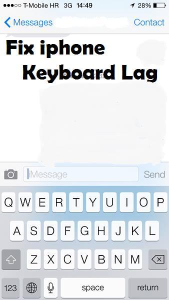 исправить отставание клавиатуры iPhone ios
