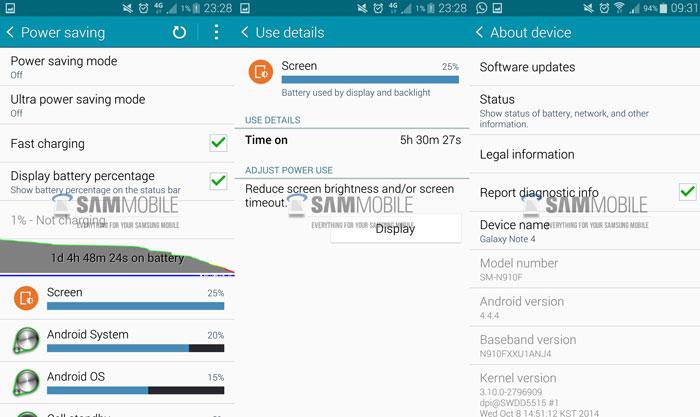 исправить плохое время автономной работы Galaxy Note 4