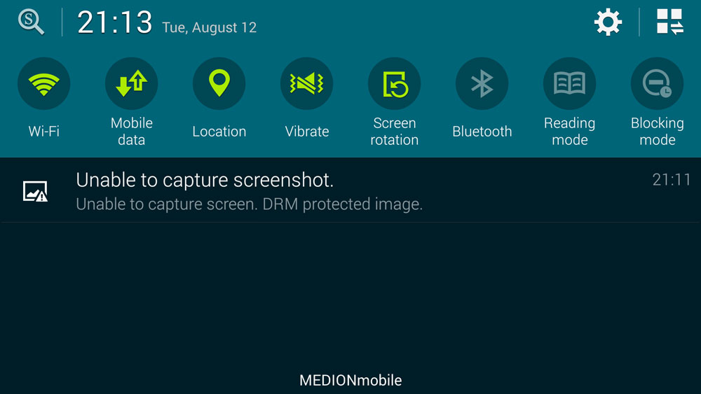 невозможность захвата экрана с защитой от DRM