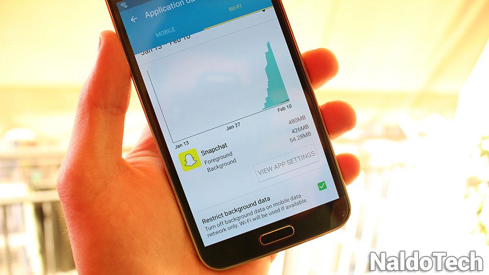 исправление использования мобильных данных в Snapchat