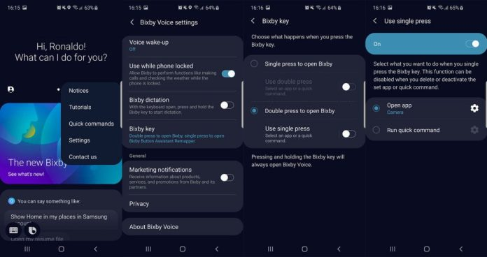 переназначить bixby на помощника Google