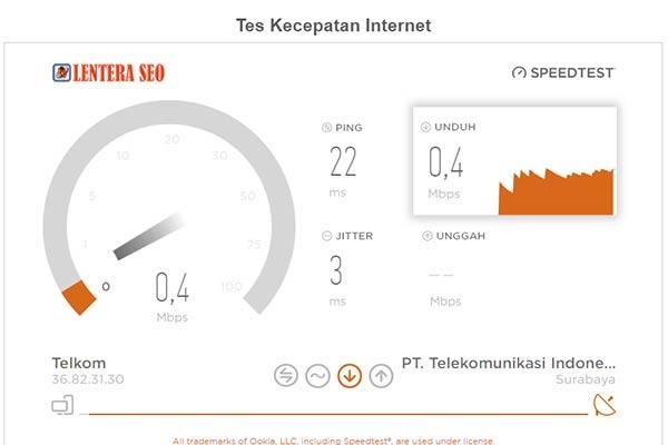 Tes Kecepatan Indihome 10Mbps