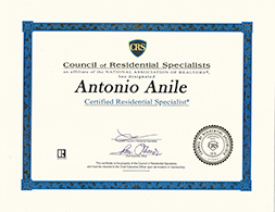 Certified residential specialist Antonio