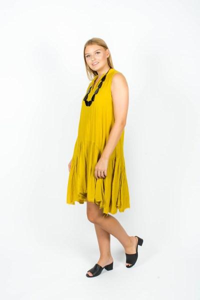 Ella Dress Mustard