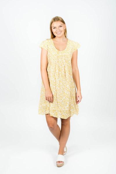 Sienna Dress Fleur Mustard