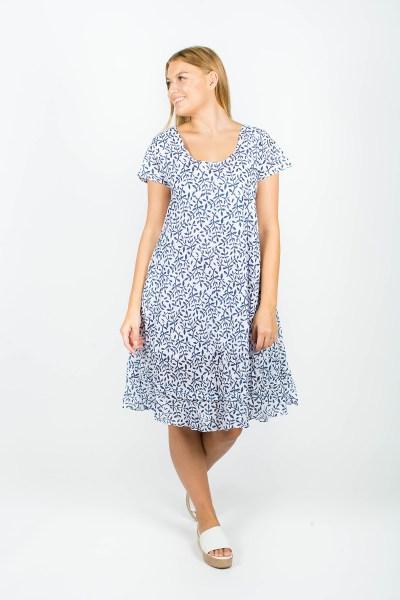 Ivy Dress Fleur Navy