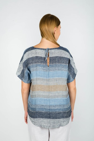 Eliza Top Seattle Blue