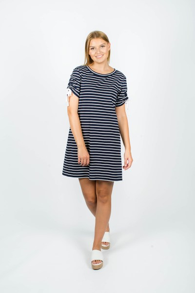 Lexi Dress Navy Stripe