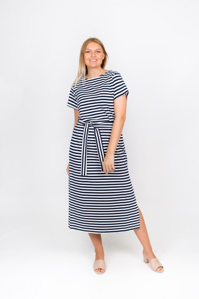 Marley Dress Navy Stripe
