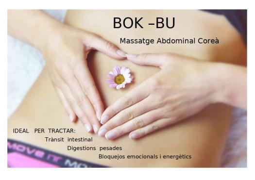 Bok Bu - masatge abdominal coreà