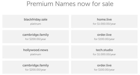 Premium Names List
