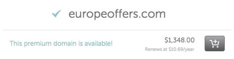 example of premium domain for sale