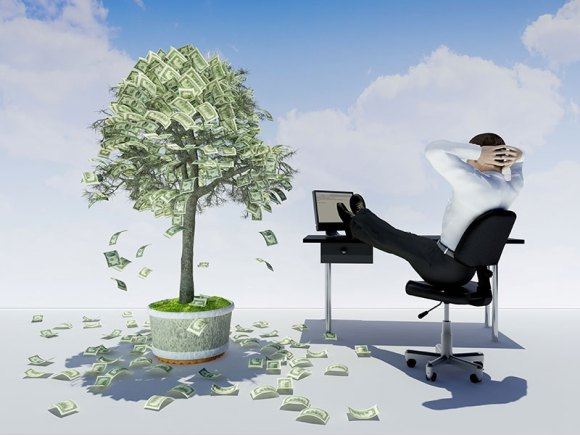 man and money tree