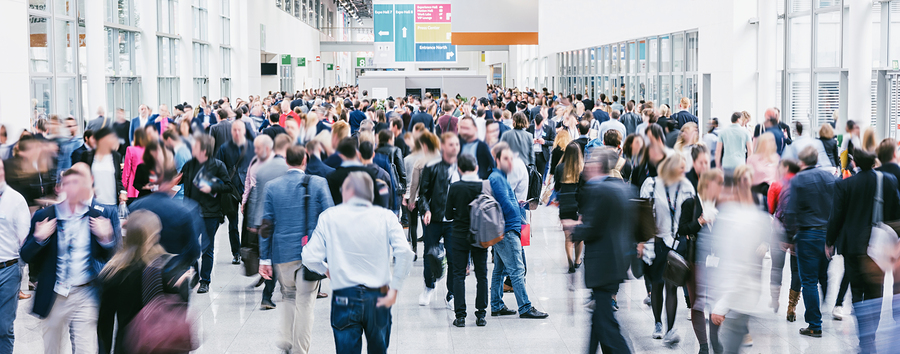 People attending a conference