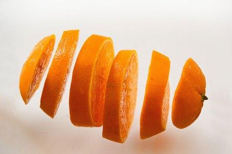 sliced up orange