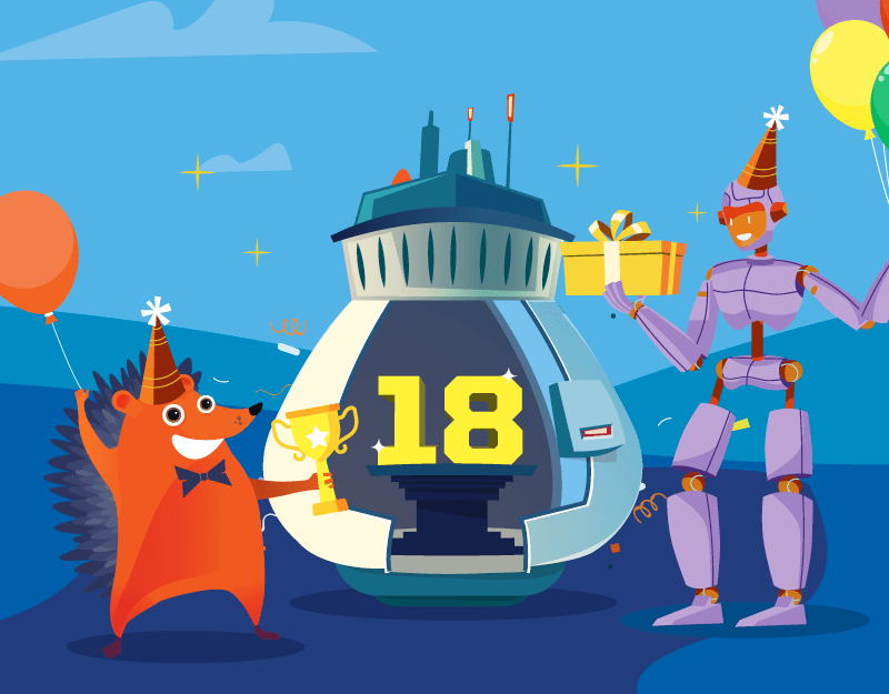 Hero image of Our Big 18th Birthday is TodayNamecheap Partners With Adobe Portfolio