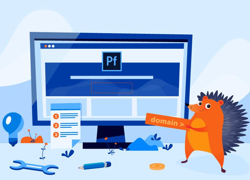 Hedgehog showing off Adobe-Namecheap partnership