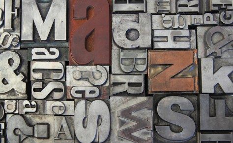 movable type for printing press